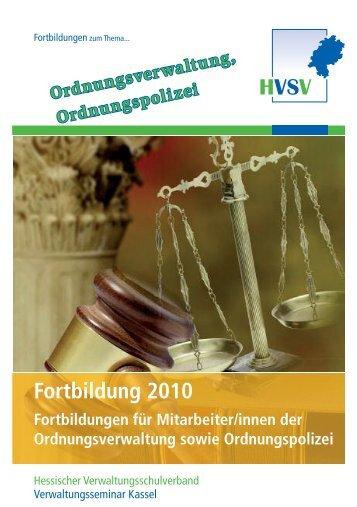 Fortbildung 2010 - Hessischer Verwaltungsschulverband