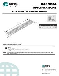 Brass and Chrome Grates Technical Specifications - NDS