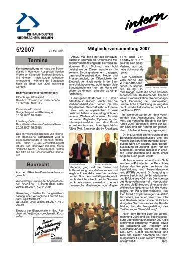 5/2007 - Bauindustrieverband Niedersachsen-Bremen