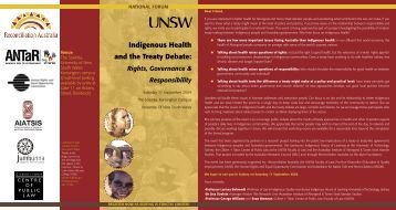 Indigenous Health and the Treaty Debate: - Gilbert + Tobin Centre of ...