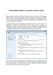 Wifi segédlet Windows 7 operációs rendszer esetén