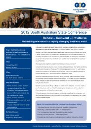2012 State Conference Brochure.pdf - Family Business Australia ...