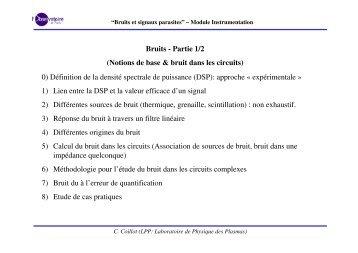 Bruits et signaux parasites - LPP