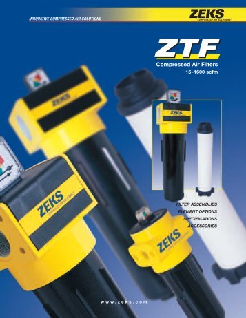 ZTF Filter Catalog - ZEKS Compressed Air Solutions