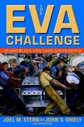 The EVA Challenge: Implementing Value-Added Change in an ...