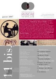 Bulletin 2007 - Médiathèque Musicale Mahler