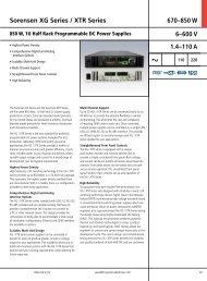 XG-XTR 850W Series Power Supply Datasheet - Westek