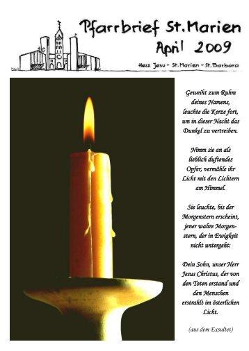 Pfarrbrief 04/2009 - Kath. Kirchengemeinde St. Marien Neunkirchen