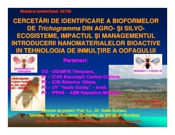 Cercetari de identificare si de valorificare a bioformelor de