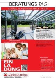 BERATUNGS TAG - Glashaus Rehm