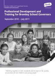 Governors Training Brochure 2010-2011 - Bromley Partnerships