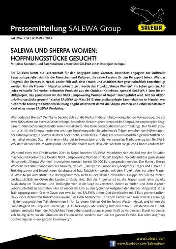 SALEWA und ShErpA WomEn