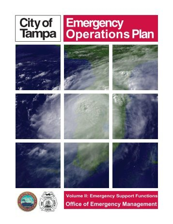 Emergency Operations Plan Vol.2 - City of Tampa