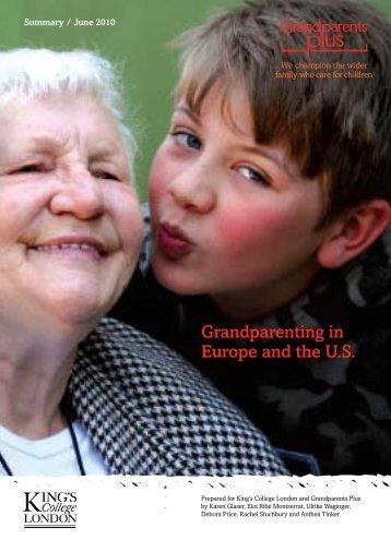 Grandparenting in Europe and the U.S. - Calouste Gulbenkian ...