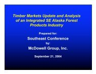 Timber Markets Update and Analysis of an Integrated SE Alaska ...