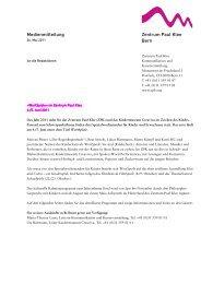 Medienmitteilung WortSpiele - Zentrum Paul Klee