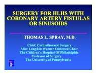 surgery for hlhs with surgery for hlhs with coronary artery fistulas or ...