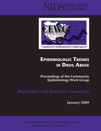 CEWG January 09 Full Report - National Institute on Drug Abuse