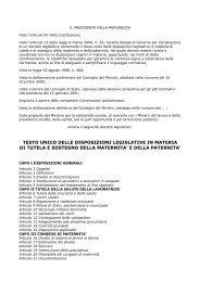 testo unico delle disposizioni legislative in materia ... - CUB Piemonte