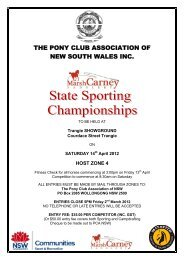 THE PONY CLUB ASSOCIATION OF NEW SOUTH WALES INC.
