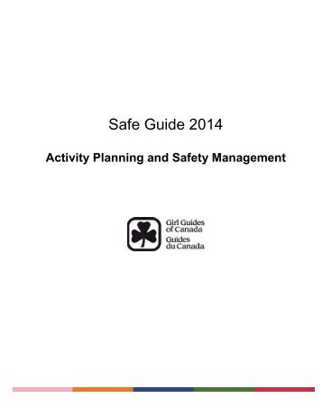 Safe Guide 2008 - Forms - Girl Guides of Canada.