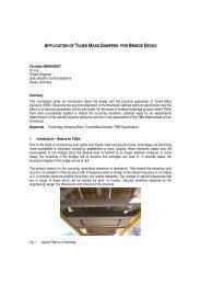 application of tuned mass dampers for bridge decks - bei GERB