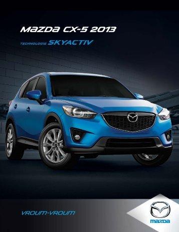 Brochure du CX-5 2013 - Mazda Canada