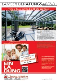 LANGER BeratungsABEND - Glashaus Rehm