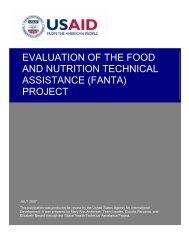 Evaluation of the Food and Nutrition Technical Assistance (FANTA)