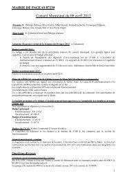 Conseil Municipal du 20 mars 2013 - Pageas
