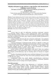 Maļecka S., Ruža A. Slāpekļa mēslojuma normu ietekme uz augu