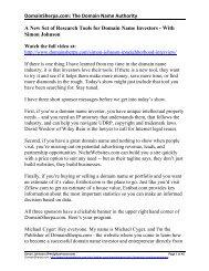 Simon Johnson Interview Transcript in PDF Format - DomainSherpa