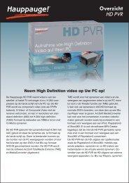 Overzicht HD PVR - Hauppauge