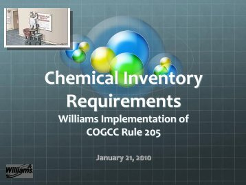 Chemical Inventory Requirements - Rmehspg.org