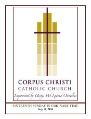 July 18, 2010 - Corpus Christi Catholic Church