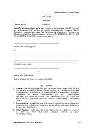 Załącznik nr 4 do Specyfikacji -PROJEKT- UMOWA ... - Tauron