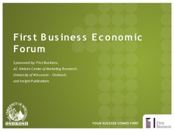First Business Economic Forum - WLUK Fox 11