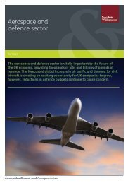 Services to aerospace and defence sector - Smith & Williamson
