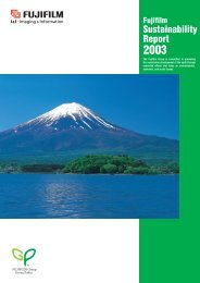 Fujifilm Sustainability Report 2003