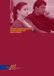 Gender mainstreaming in education and employment - European ...