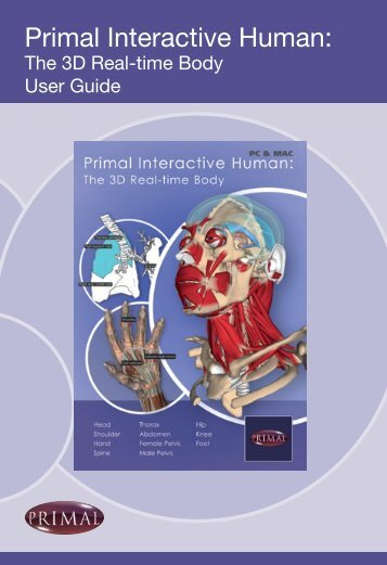 Need help using Primal Interactive Human: the 3D ... - Primal Pictures