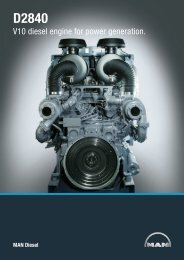 V10 diesel engine for power generation. - MAN Diesel & Turbo SE