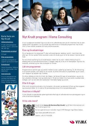 Nyt Krudt program i Visma Consulting