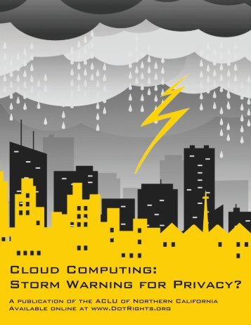 Cloud Computing: Storm Warning for Privacy? (Issue Paper)