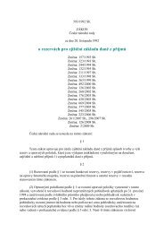 zákon č. 593/1992 Sb., o rezervách pro zjištění základu daně z ...
