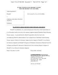 Cross Motion for Summary Judgment - Judicial Watch