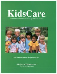 Brochure, 2012-2013 (Full-colored version) - KidsCare of Pennsbury