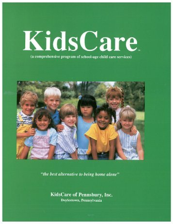 Brochure, 2012-2013 (Full-colored version) - KidsCare of Pennsbury