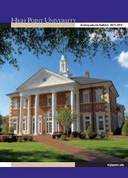 Course Catalog - High Point University