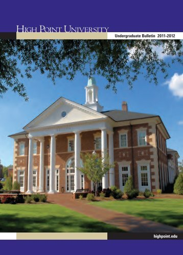 Course Catalog - High Point University